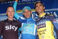 Le podium final de Tirreno-Adriatico
