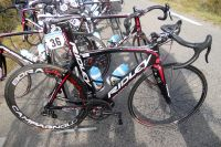 Le Ridley Noah, un des deux modèles à disposition des Lotto-Belisol, avec machoîres de freins intégrées