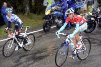 Vincenzo Nibali à la lutte avec Chris Horner