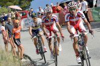 Giampaolo Caruso, Joaquim Rodriguez et Nicolas Roche tentent un coup