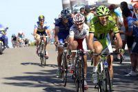 Ivan Basso creuse l'écart, en arrière-plan Vincenzo Nibali coince