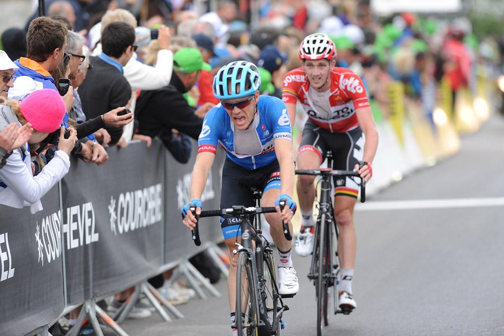 Au prix d'un gros effort dans la montée finale, Andrew Talansky remporte le Dauphiné