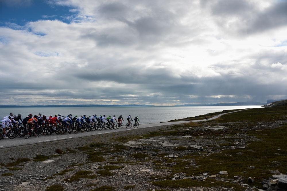 Le peloton de l'Arctic Race of Norway