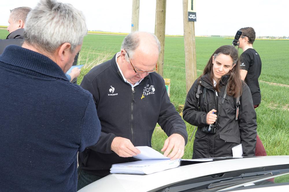 ASO et Jean-François Pescheux en pleine reco de Paris-Roubaix