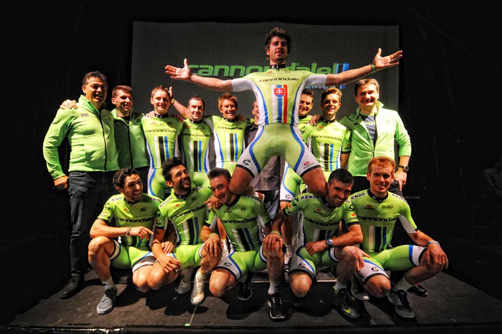 Peter Sagan et ses coéquipiers de l'équipe Cannondale