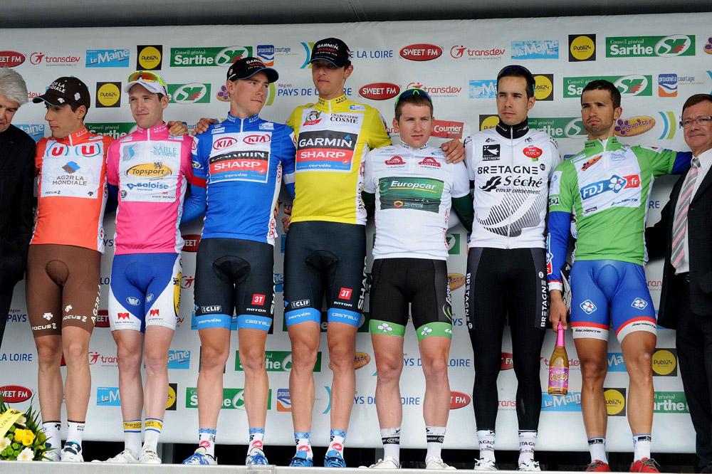 Le podium final du Circuit de la Sarthe