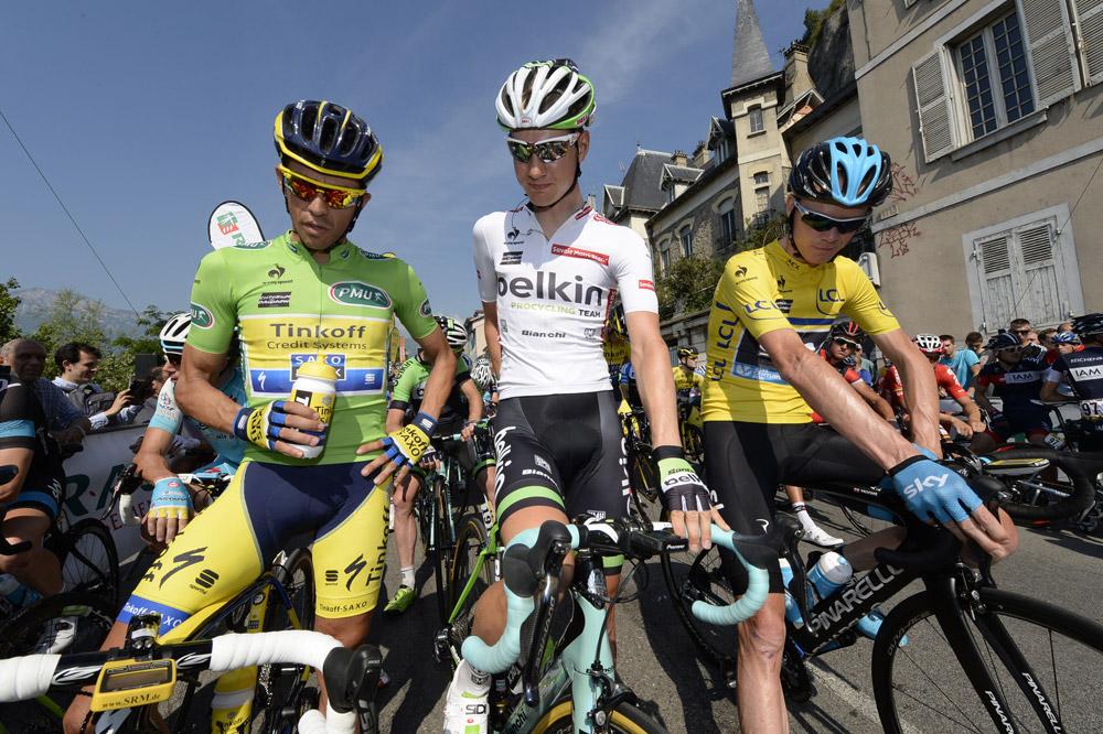 Chris Froome, Alberto Contador et Wilco Kelderman constituent pour le moment le podium du Dauphiné