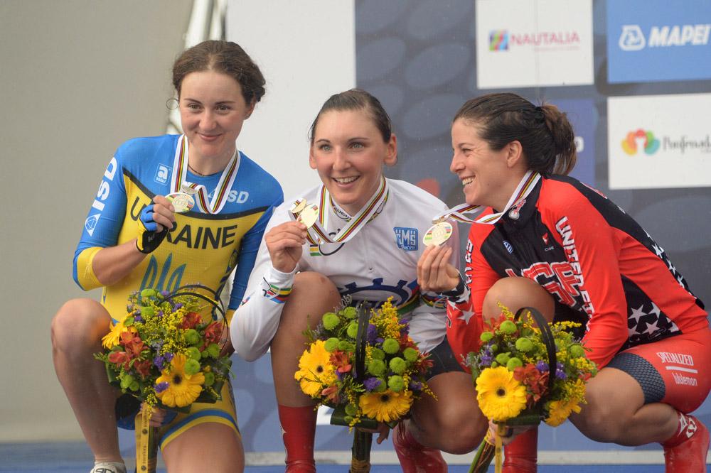 Le podium du Championnat du Monde CLM Dames