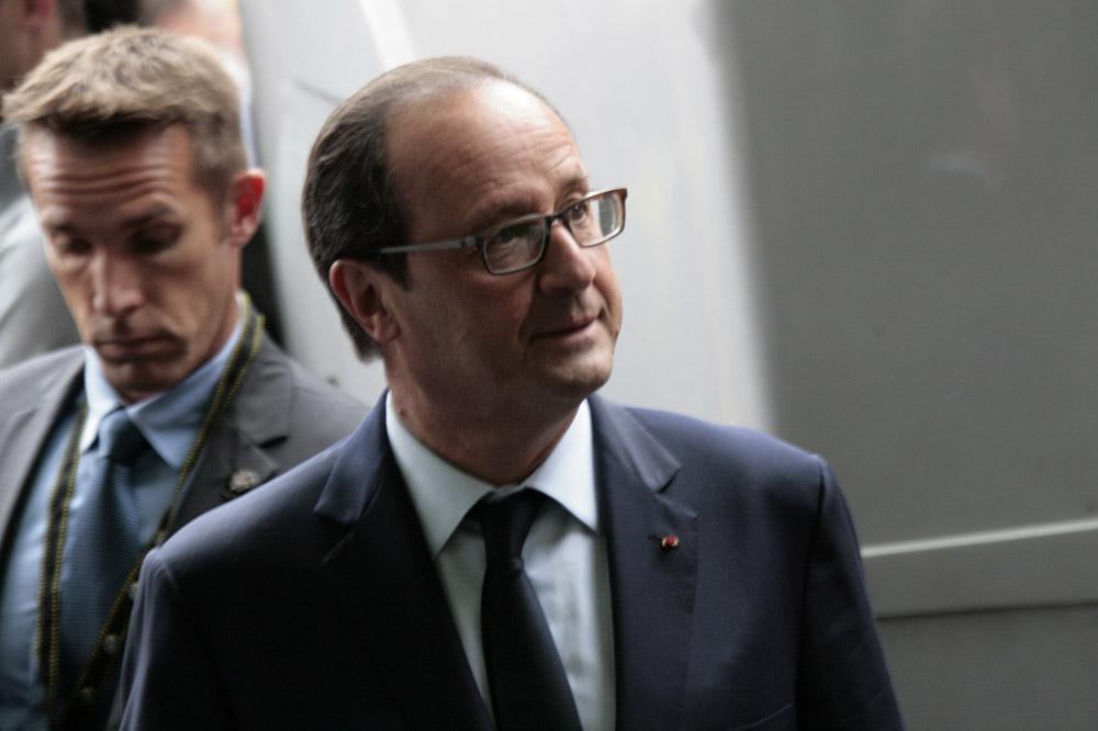 Le président de la République François Hollande présent sur le Tour pour commémorer la Grande Guerre