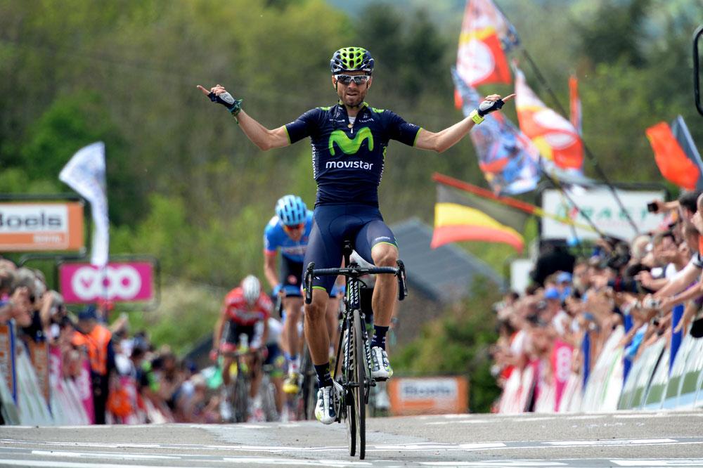 Alejandro Valverde triomphe à la Flèche Wallonne