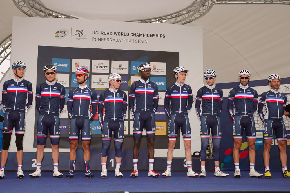 L'équipe de France à Ponferrada