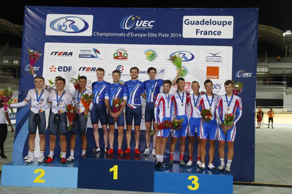 Les Britanniques champions d'Europe de poursuite par équipes