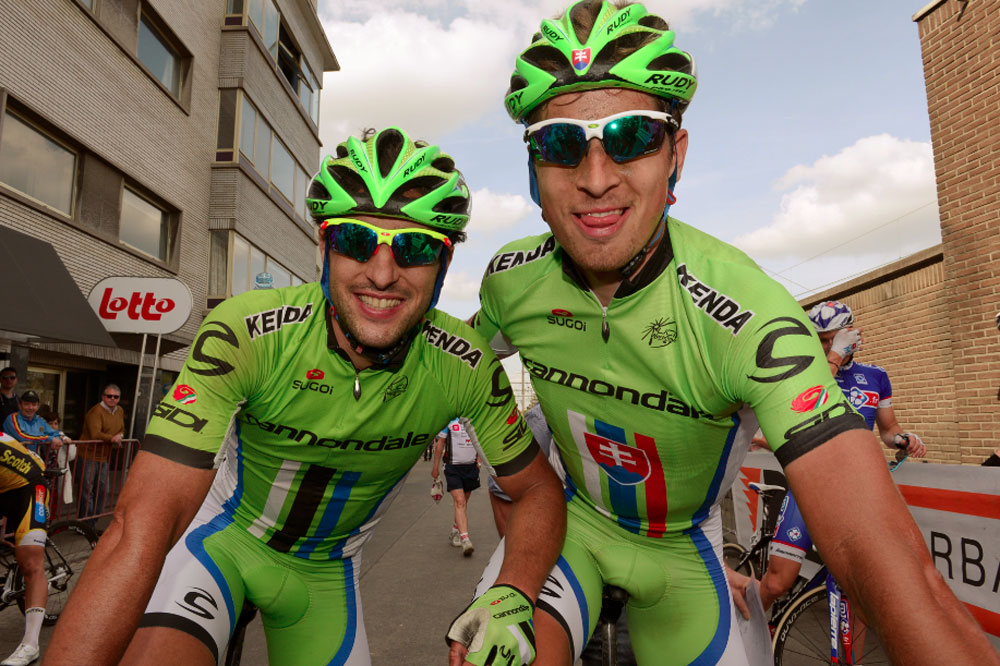 Oscar Gatto et Peter Sagan