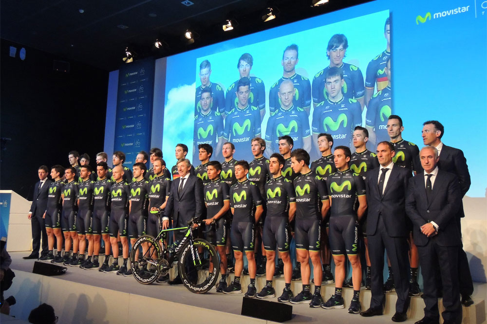L'équipe Movistar dans sa version 2014