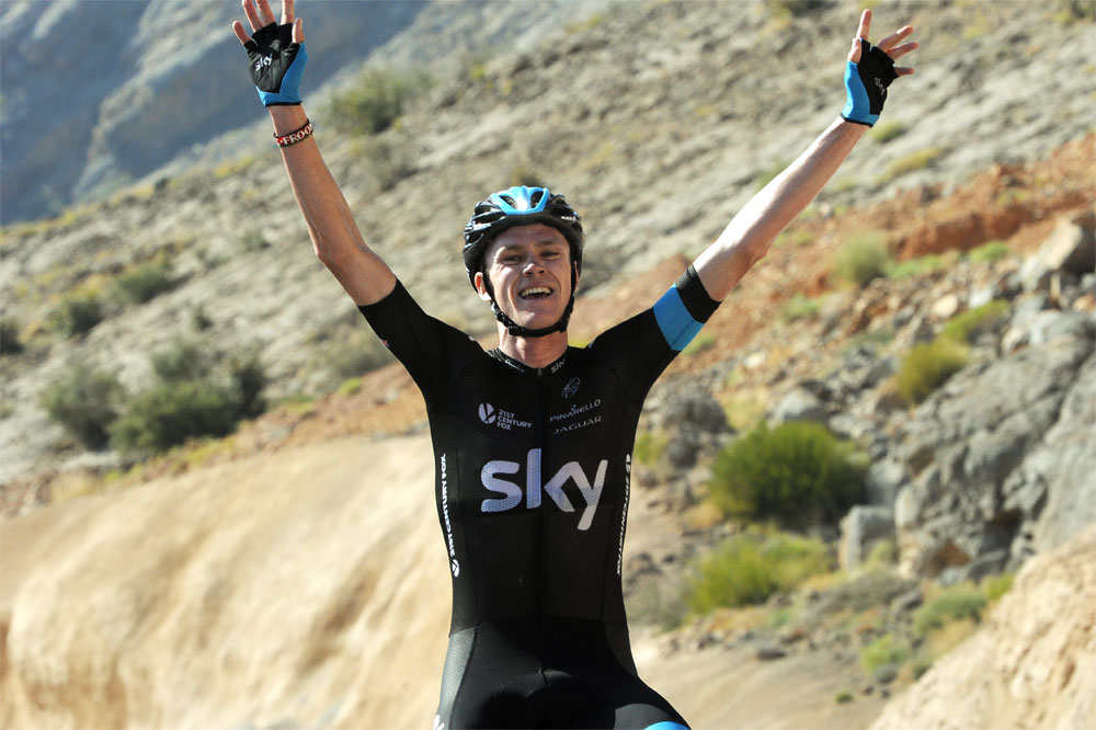 Chris Froome rayonne à Oman