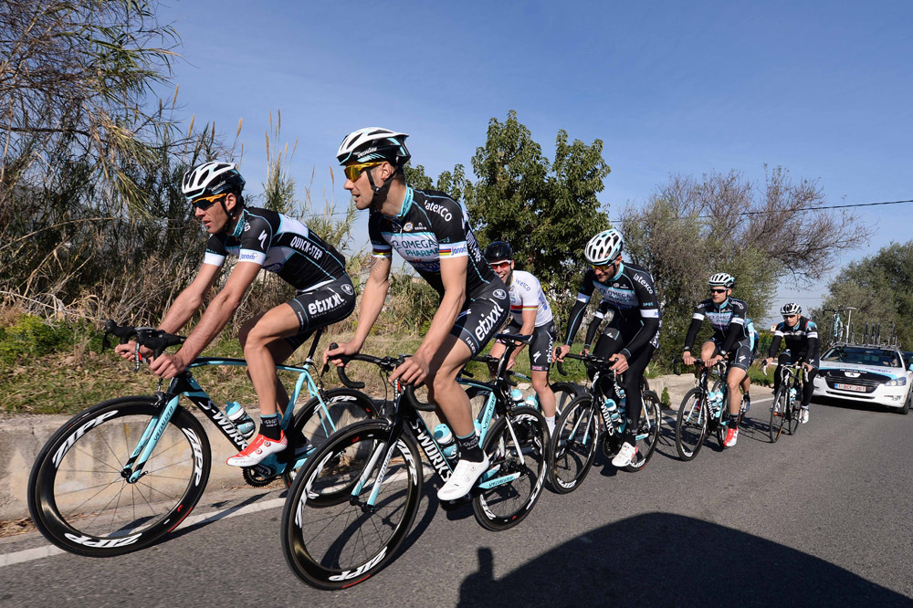 L'équipe Omega Pharma-Quick Step en stage à Calpe