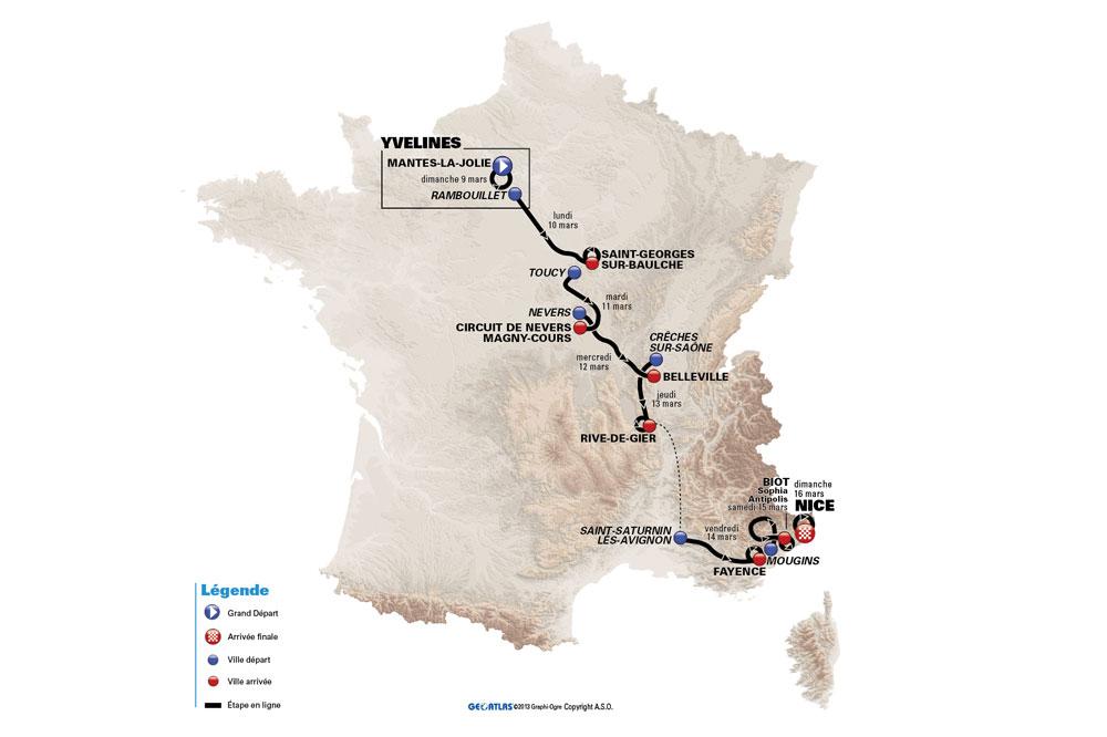 Un tracé inédit pour Paris-Nice