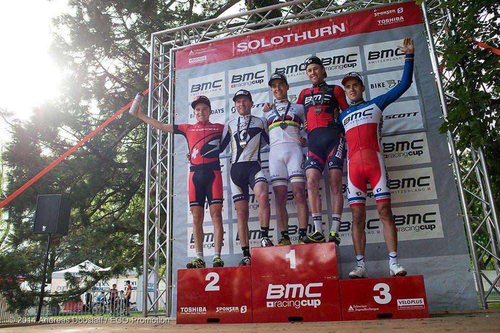 Le podium de la BMC Racing Cup de Soleure