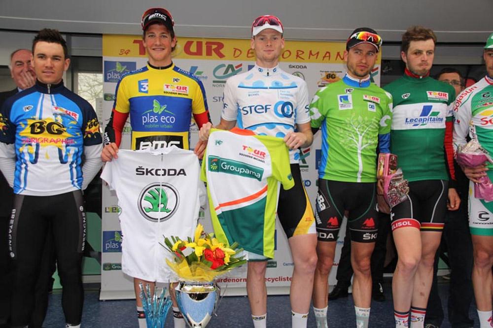 Le podium final du Tour de Normandie