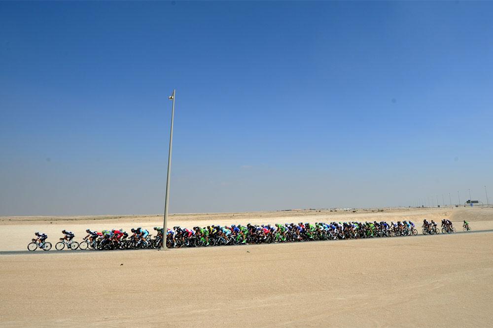 Le peloton dans le Qatar