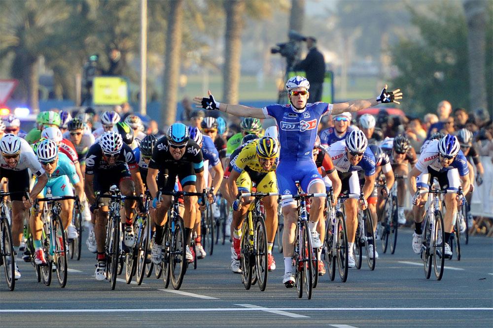 Arnaud Démare victorieux à Doha