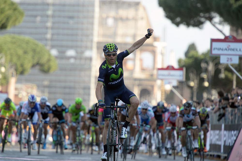 Alejandro Valverde impérial sur la Roma Maxima
