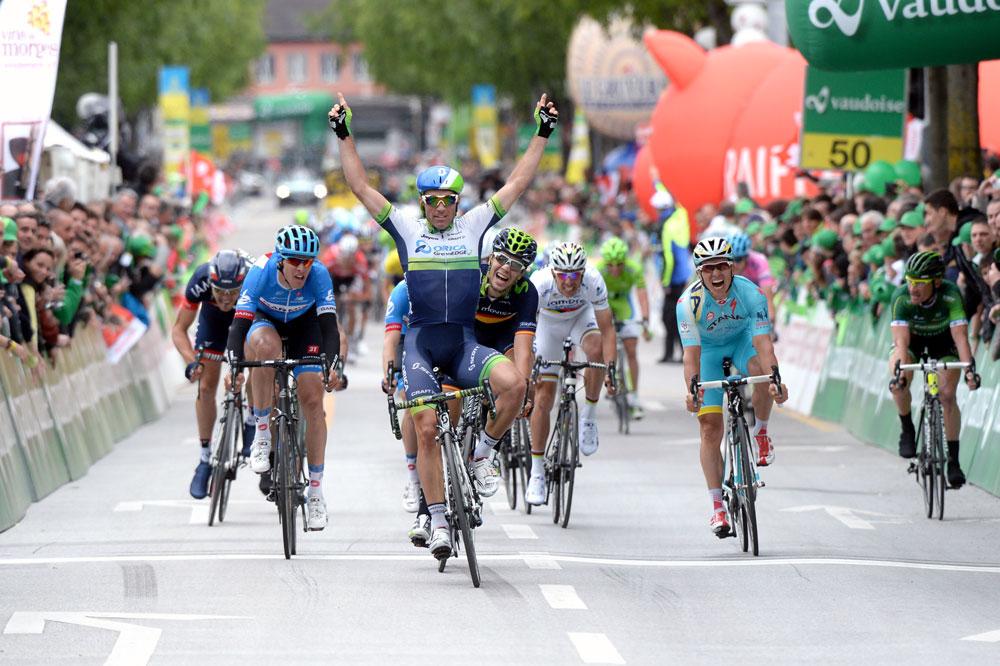 Thomas Voeckler à droite rejoint, Michael Albasini gagne au Tour de Romandie