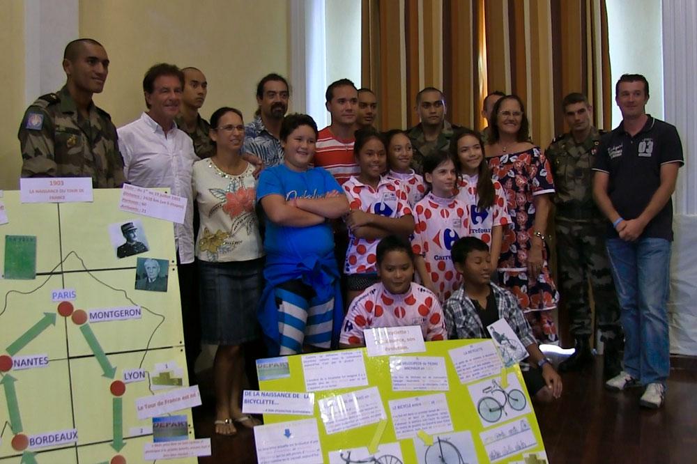 Les élèves de Pirae présentent leurs travaux