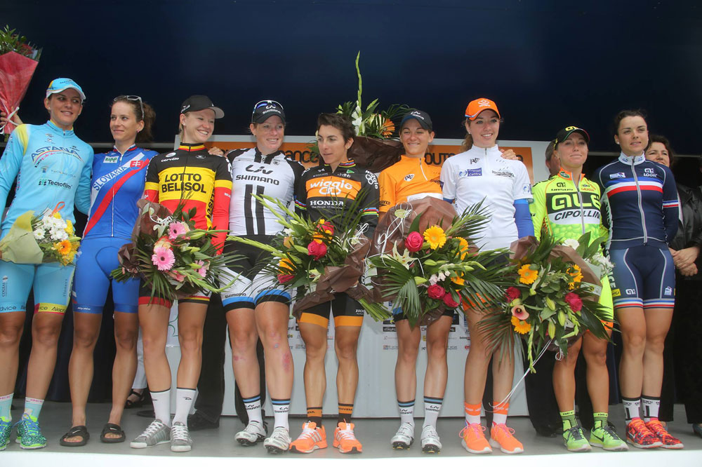 Le podium de la Route de France Internationale