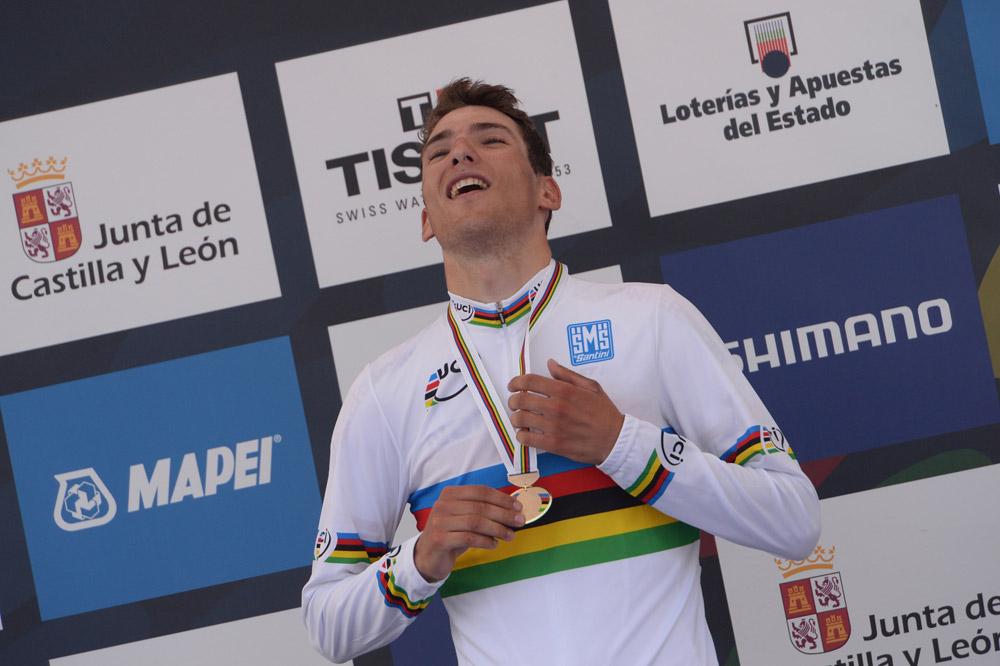 Sven Erik Bystrom va chercher le maillot arc-en-ciel