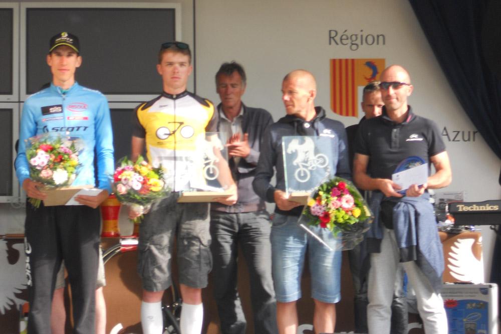 Le podium du grand parcours de la Serre Che Luc Alphand