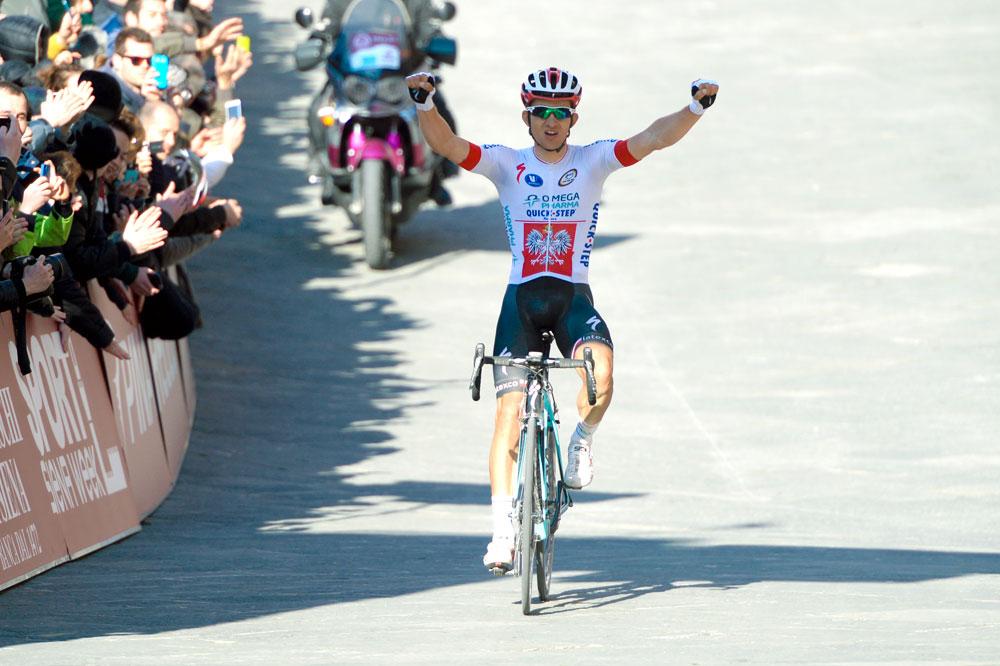 Michal Kwiatkowski triomphe des routes blanches