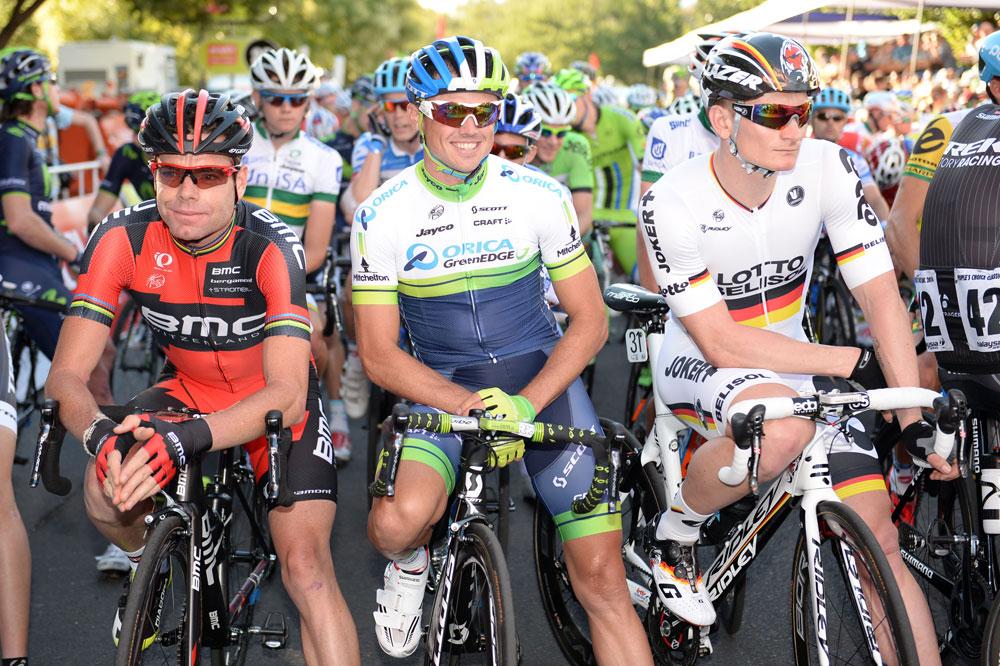 Cadel Evans, Simon Gerrans, André Greipel, les têtes d'affiche du Tour Down Under