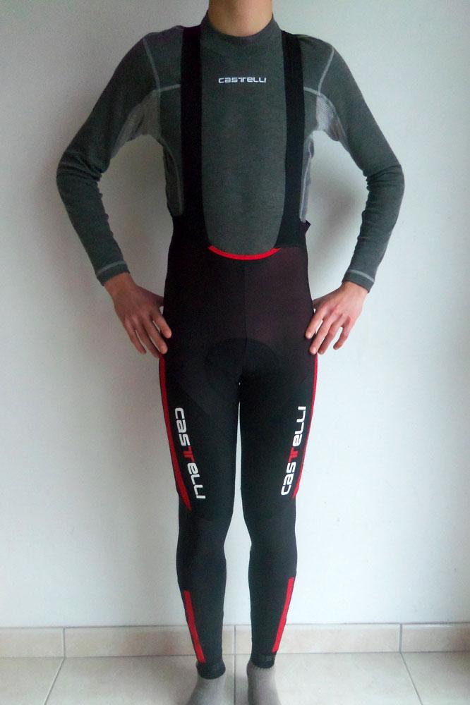Le maillot de corps Flanders Warm LS et le cuissard long Sorpasso Bibtight de Castelli