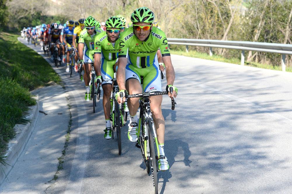 Derrière Ivan Basso, l'équipe Cannondale accélère
