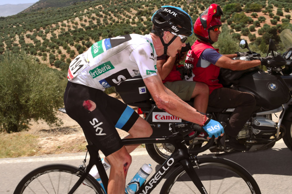 Chris Froome s'esquinte encore