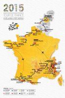 La carte du Tour 2015