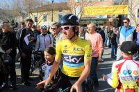 Geraint Thomas, porteur du maillot jaune au matin de la 6ème étape