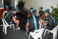 Pause café au Team Sky