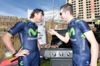José-Ivan Gutierrez et Giovanni Visconti s'adonnent aux joies du barbecue