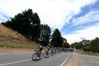 Le peloton chemine sur les routes australiennes