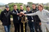 Cadel Evans, Michal Kwiatkowski, Richie Porte, Nairo Quintana, Alberto Contador et Rigoberto Uran