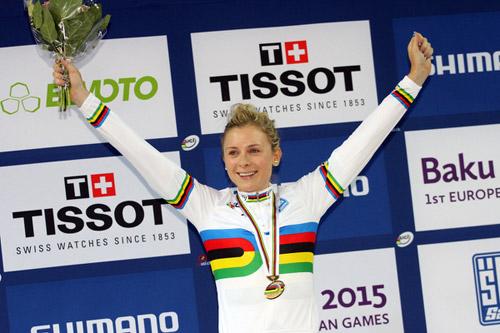 Annette Edmondson, championne du monde de l'omnium