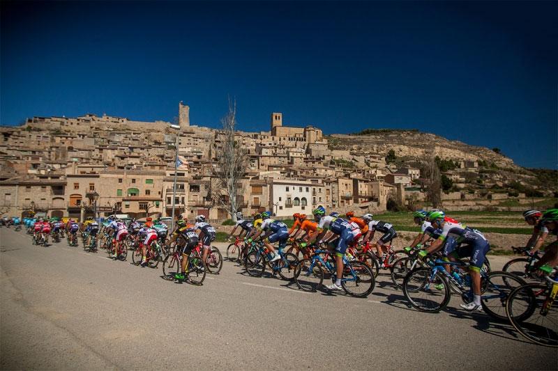 Le peloton du Tour de Catalogne