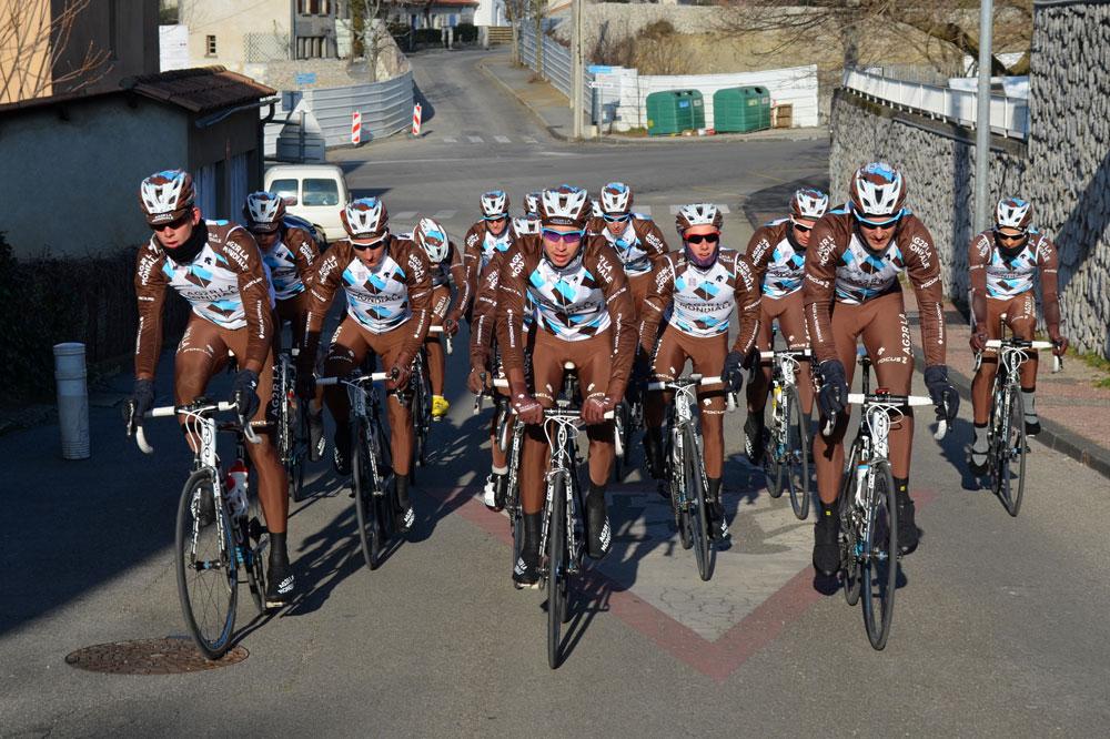 Les coureurs du Chambéry Cyclisme Formation