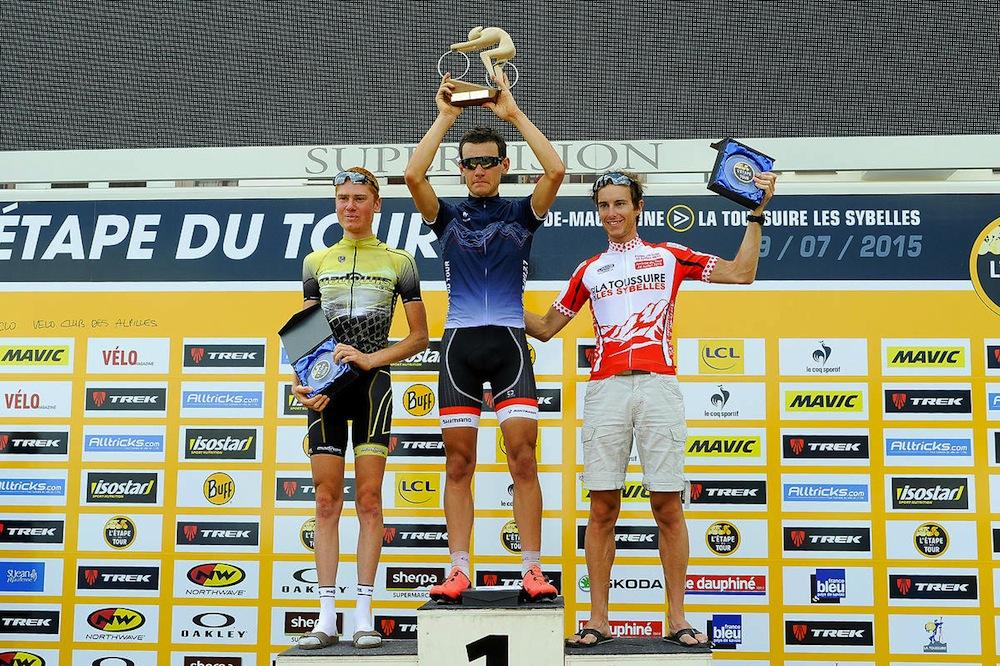Le podium scratch de l'Etape du Tour