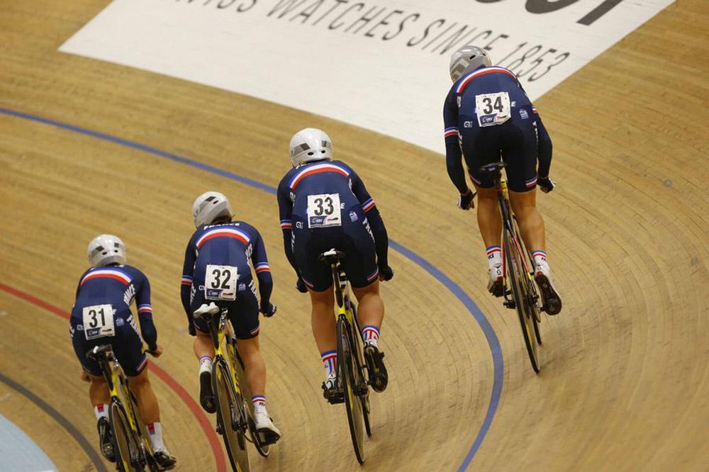 Les Français en poursuite par équipes