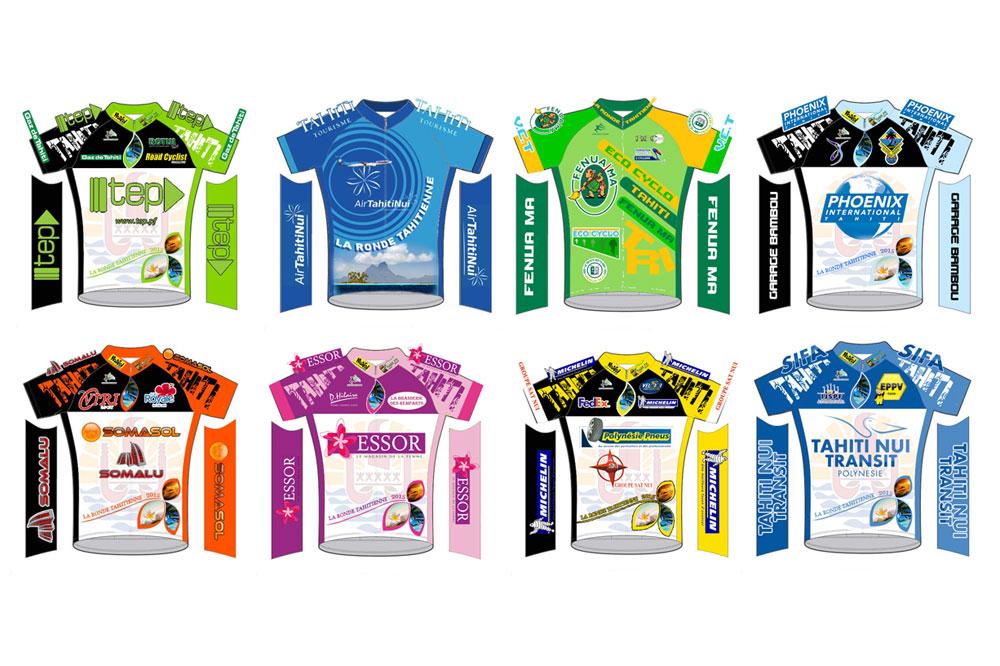 Les maillots de la Ronde Tahitienne 2015