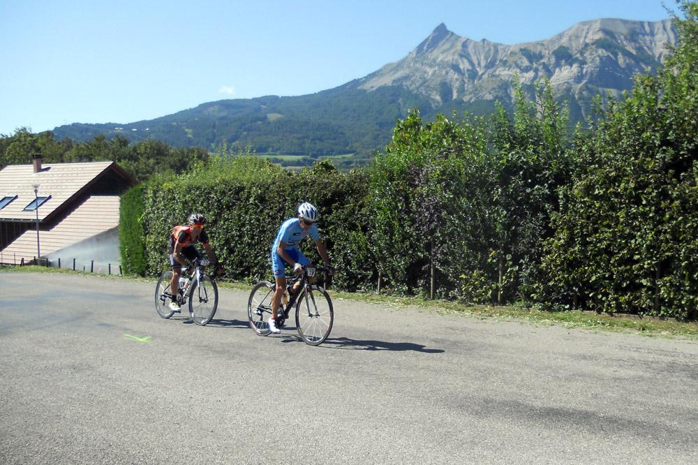 Michel Roux et Stefano Sala en tête sur l'Alpigap