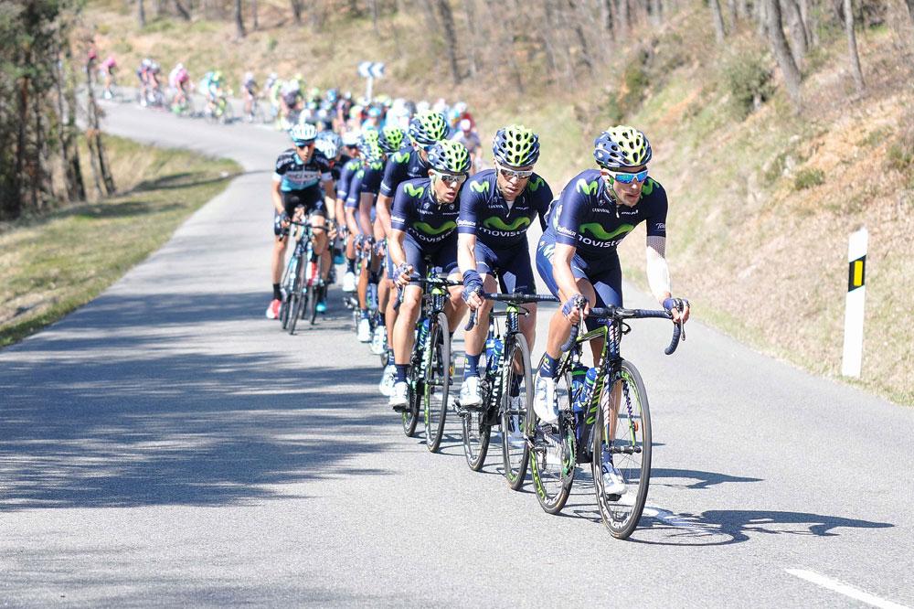 L'équipe Movistar sur les routes du Pays Basque